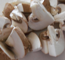 When I make this stew, I use chestnut mushrooms which have a great, earthy flavour.