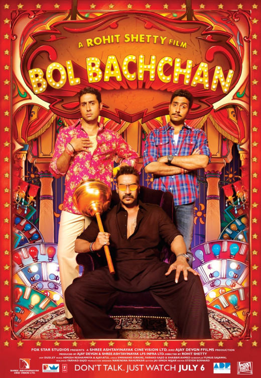 Bol Bachchan Poster, as released by Ajay Devgn in twitter