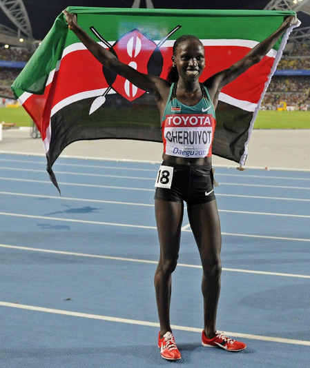 Watch Double world champion in 5,000m and 10,000 Vivian Cheruiyot at London Olympics 2012