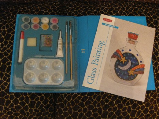 My glass painting kit