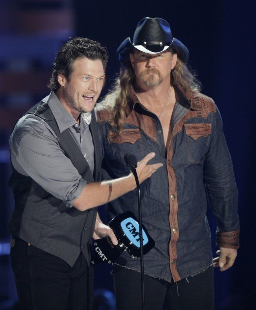 Blake Shelton and Trace Adkins