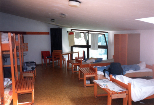 Munich Youth Hostel, Germany, 1988.