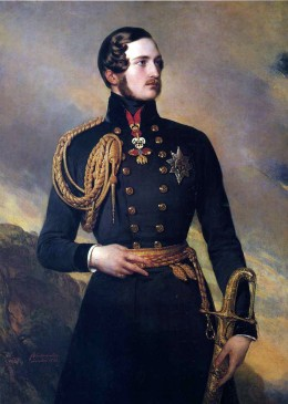 Prince Albert of Saxe-Coburg and Gotha wearing the Golden Fleece, painted by Franz Xaver Winterhalter in 1842