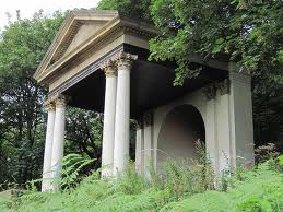 Ornamental portico rebuilt in the Italian Gardens at Saltburn - there's been a clean-up here to restore Saltburn's Victorian attractions