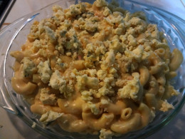 Sprinkle mac with blue cheese