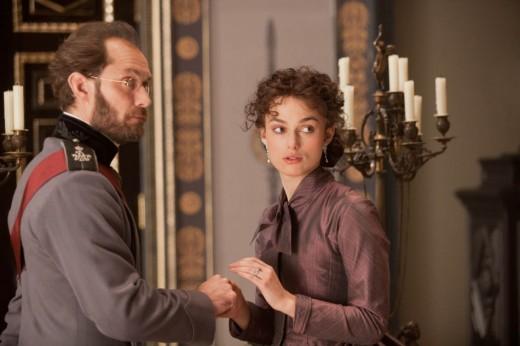 Jude Law as Count Karenin and Keira Knightley as Anna Karenina