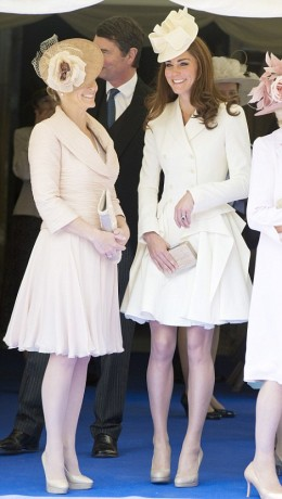 Kate in cream Alexander McQueen outfit
