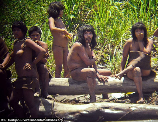 This tribe now lives in Manu National Park, Southeast Peru