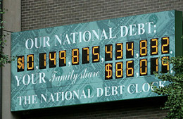 It's a sickening picture, but the National Debt is actually much higher now!