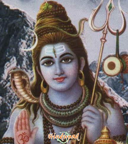 One of Lord Shiva's powers, the snake is worn 3 times round his neck to represent past, present and future time cycles.