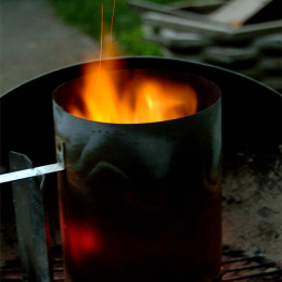 Chimney Starters for your BBQ Grill make it easy to light any charcoal grill, and the bonus is that you won't have any leftover fuel flavor on your smokey good food!