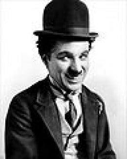 Charlie Chaplin (1889 - 1977), one of the world's most well known pantomimes.