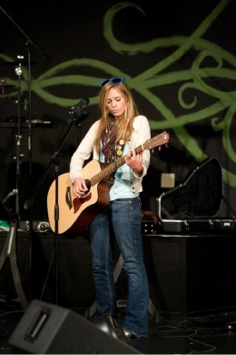 Jessica Price playing at Thornapple Valley Church.