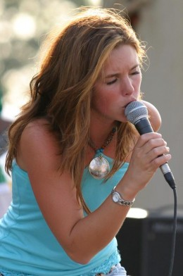 Singing at the Barry County Fair.