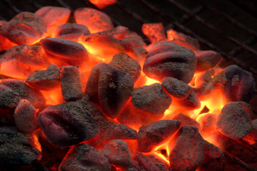 It is important to have patience with your BBQ grilling coals, they should be covered in ash before they are ready to use!