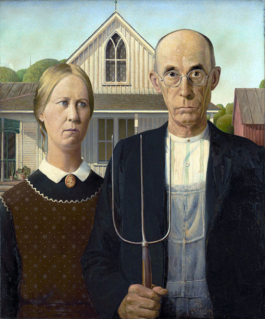 """American Gothic"" was painted by Grant DeVolson Wood in 1930."