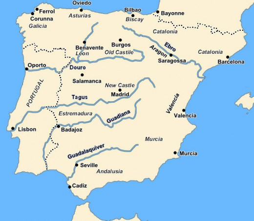 The Iberian Peninsula in the early 19th Century.
