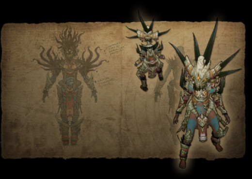 The Witch Doctor in Diablo 3 Conceptual Art