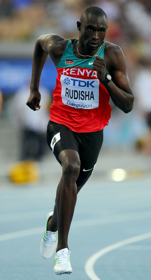 David Rudisha of Kenya competes during the men's 800 metres in Daegu, South Korea 2011.