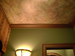 Faux finish on ceiling (Creative Commons).