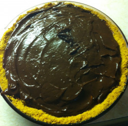 Add chocolate pudding.
