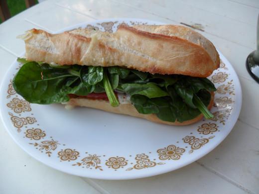 Sandwiches taste great with a little garlic Aioli sauce.