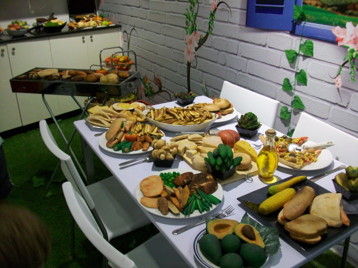 A feast made entirely of marzipan at the Marzipan Museum