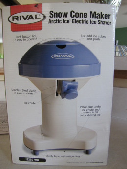 This is our snowcone machine.  I think I paid about $10 for it on sale.  We LOVE it!