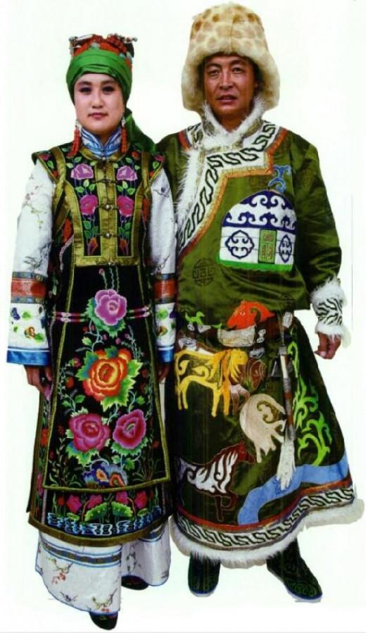Mongolian robe in Zha Lute region