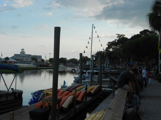 The waterfront at Murrell's Inlet is fantastic! It is definitely worth going for the evening.
