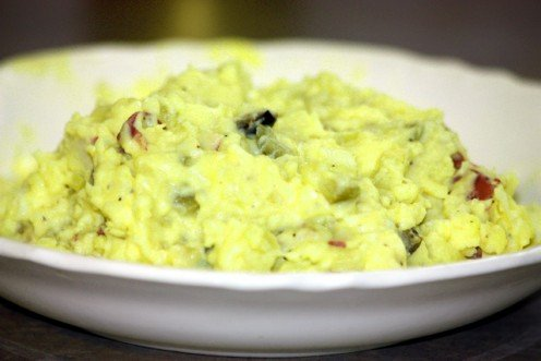 Mustard potato salad is a great side dish!