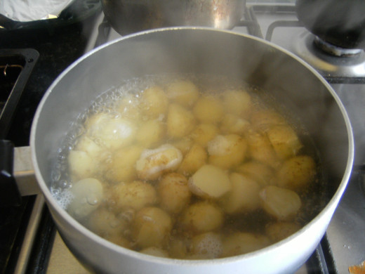 Boil the New Potatoes