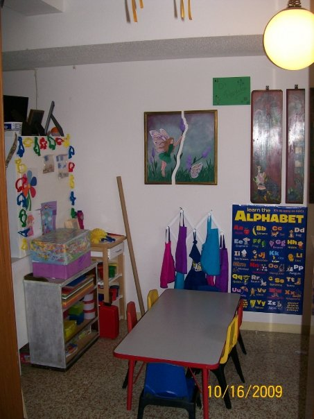 Little kids table and art center in my FCC home