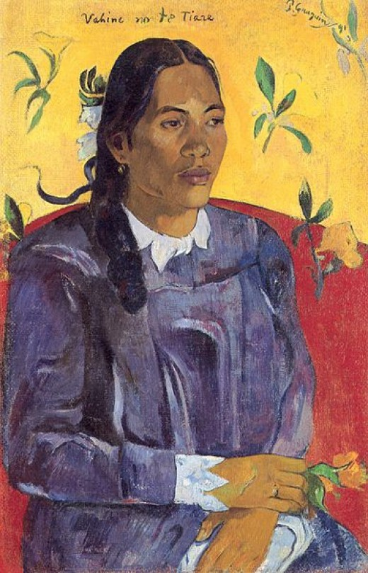 "Paul Gauguin's ""Woman with a Flower"" was painted in 1891."