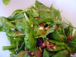 Simple Spinach Salad with Homemade Vinaigrette