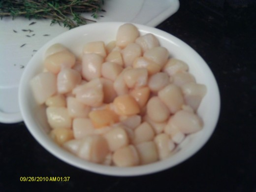 Bay scallops are smaller in size than Sea scallops but are just as tasty.