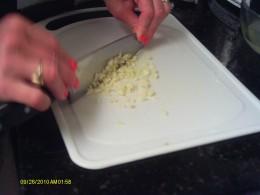 Mince the garlic