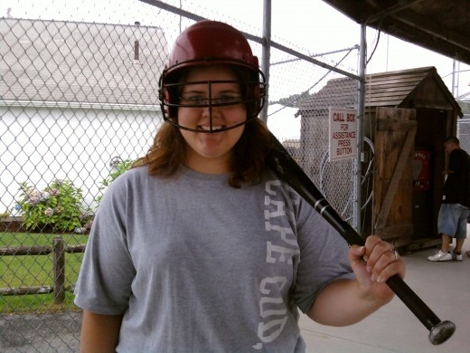 Overly confident before I go into the batting cage.