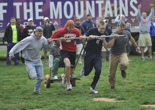 Greek student organizations from across the campus particiipated in the annual Greek games.