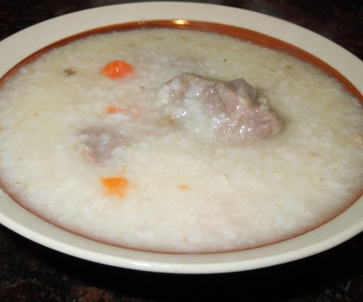 Pork Neck Bone and Carrot Porridge