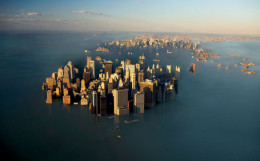 Copyrighted Rendering of New York City Under Water After Sea Level Rise