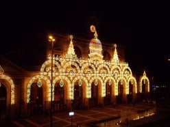 Lille-Flanders station, illuminated
