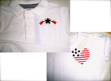 Patriotic tee shirts for a brother and sister.