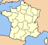 Map location of Lille, France