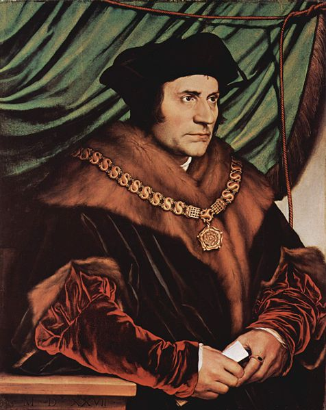 Portrait of Sir Thomas More, one of the foremost Englsih humanists of the Renaissance period.