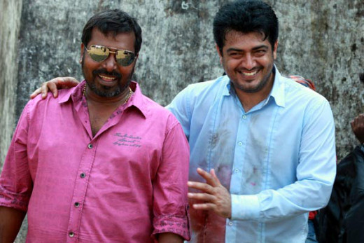 Producer: Sunir Khetrapal (left) with Ajith Kumar