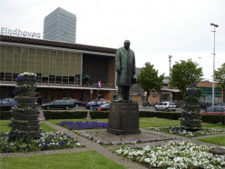 Garden view of A F Philips's statue, Eindhoven