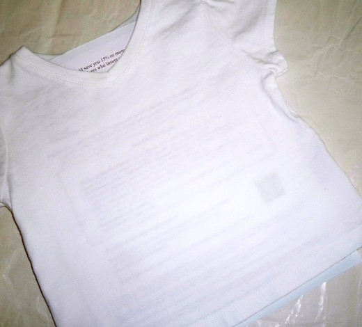 Junk mail inside shirt to protect back side.