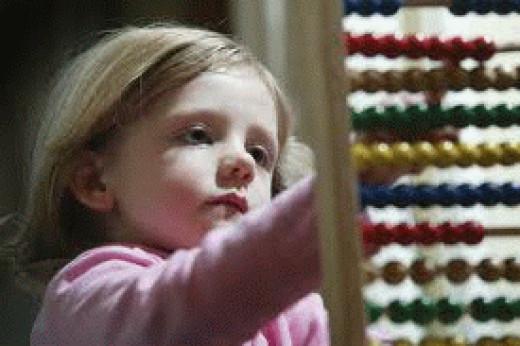 Autistic children love bead mazes.