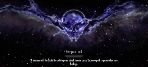Skyrim Get Vampire Lord Skill Tree